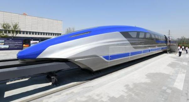 時速600公里高速磁浮試驗樣車在青島下線 輻射低過微波爐