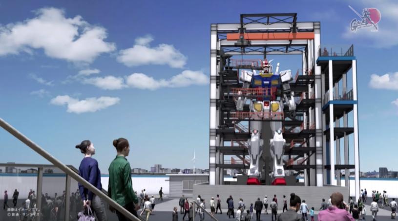 大型步行高達機器人比賽 史上最高高達機器人將問世橫濱港