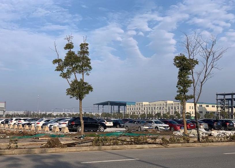 特斯拉上海工廠正式復工 單人座大巴運送員工入廠